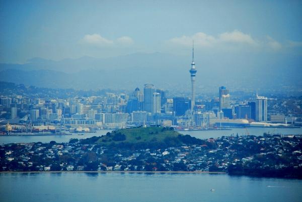Auckland und Rangitoto island